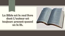 La Bible est le seul livre dont L_auteur