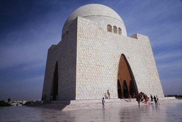 Tomb of Quaid-e-Azam February 1992 Karachi, Pakistan