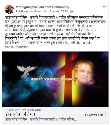 diffusion au népal
